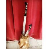 Hediyelik Paslanmaz Çelik Bozkurt Başlı Kılıç Bıçak Seti