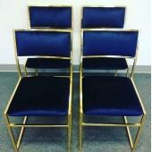 Demir Çelik 4lü Sandalye Takımı